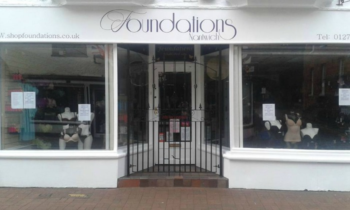 Foundations store, new look outer down