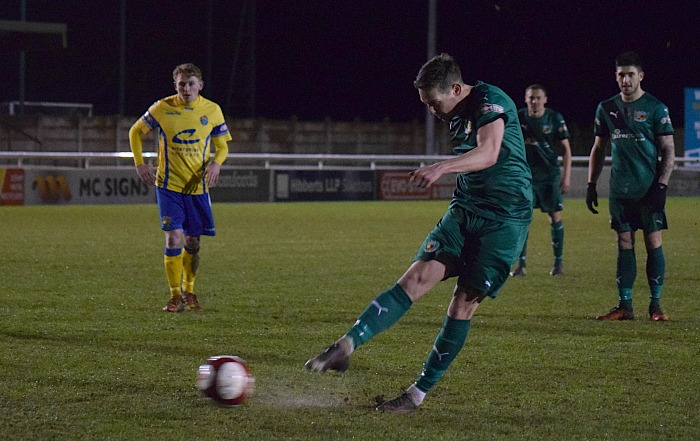 Fourth Nantwich goal - Ryan Brooke scores from a penalty