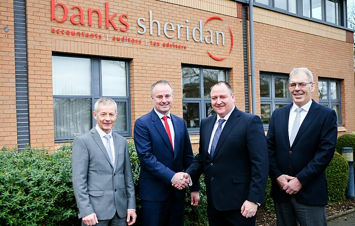 Merger - From Left to right Banks Sheridan Directors David Morris, Darren Walley, Paul Sammons, Stuart Banks