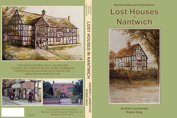Front and back covers of the new edition of Lost Houses in Nantwich