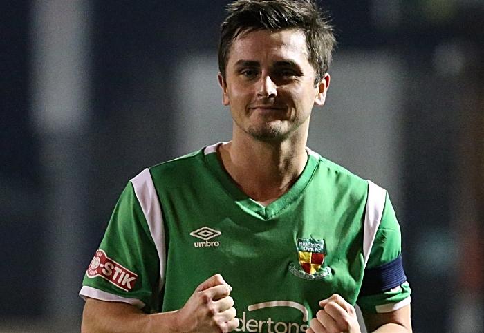 Full-time - Captain Caspar Hughes celebrates victory (1)