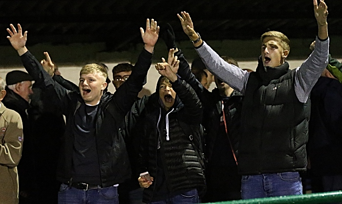 Full-time - Dabbers fans celebrate victory (1)