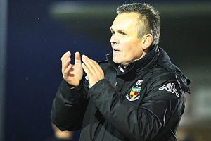 Full-time - Nantwich Town FC Manager Dave Cooke thanks the fans