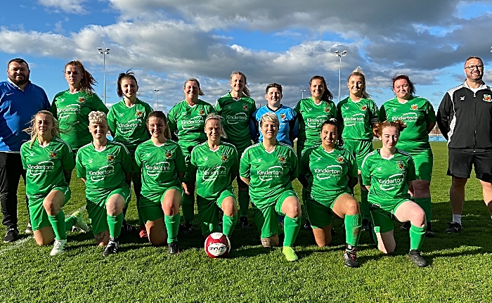 Full-time - victorious Second-half - Nantwich Town Ladies FC players and management (1)