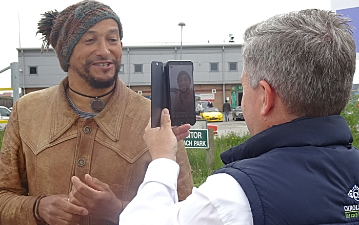 Fuzz Townshend - motoring journalist and TV presenter from Car SOS - was present at the event and interviewed for Facebook Live during the depart by a representative of Carole Nash