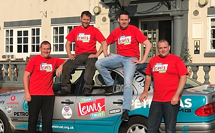 Gareth Williams left with his Team Lewis team mates with the car set for Benidorm or Bust (1)