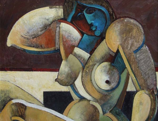 Geoffrey Key painting of seated nude sold for £7200