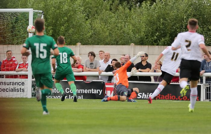 pre-season - George Cooper fires home for Crewe against Nantwich Town