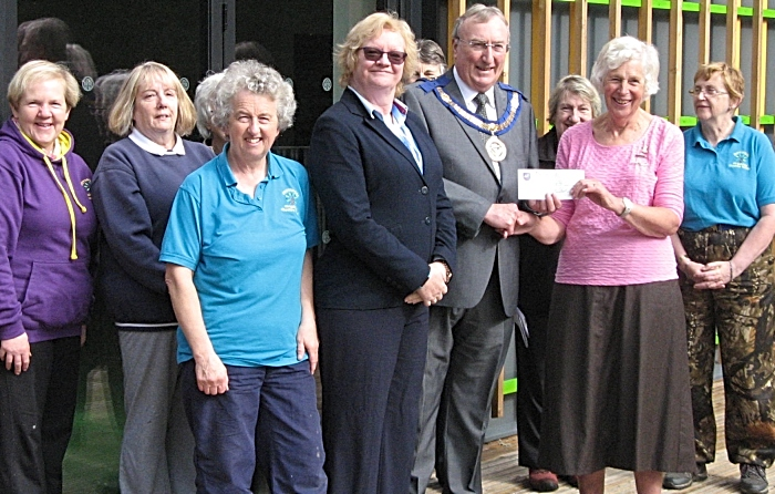 George Mann and Cynthia Gent - freemasons donation for girl guides outdoor centre