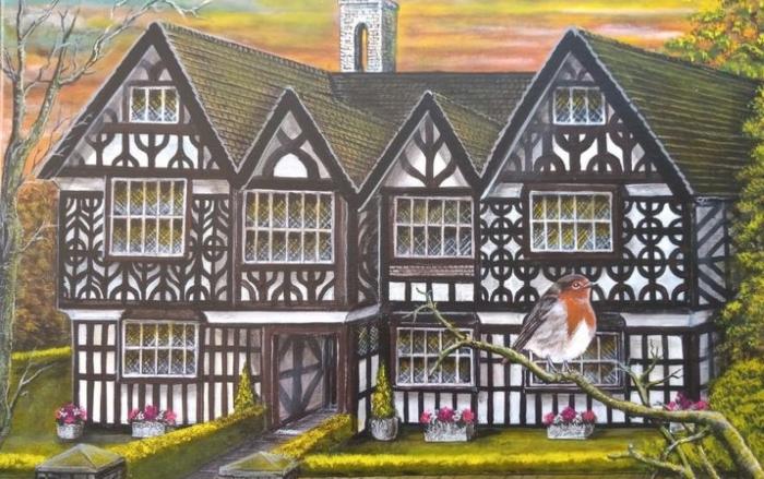 Artist George Telford - Churches Mansion in Nantwich (1)