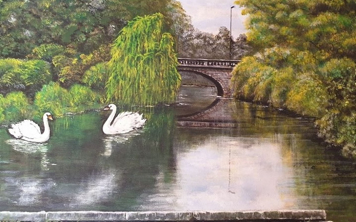 George Telford - River Weaver at Water Lode in Nantwich (1)