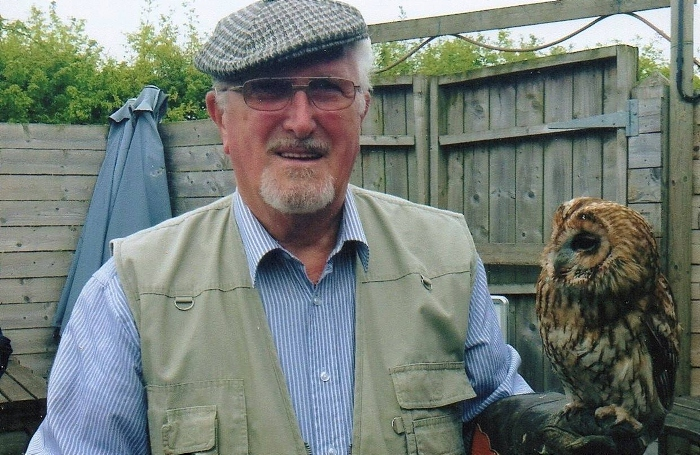 George Telford - with a tawny owl (1)