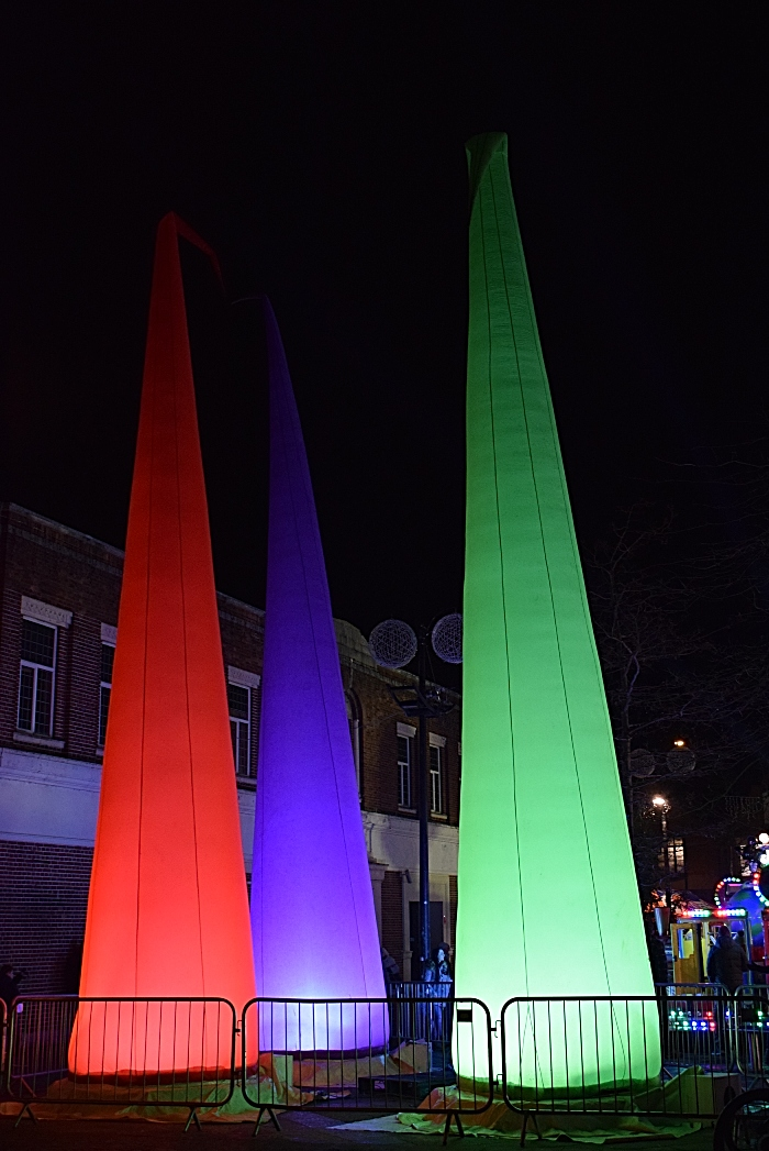 Giant inflatable lights at Market Square (1)