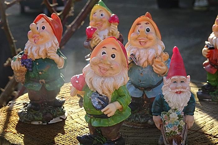 Gnomes greet visitors