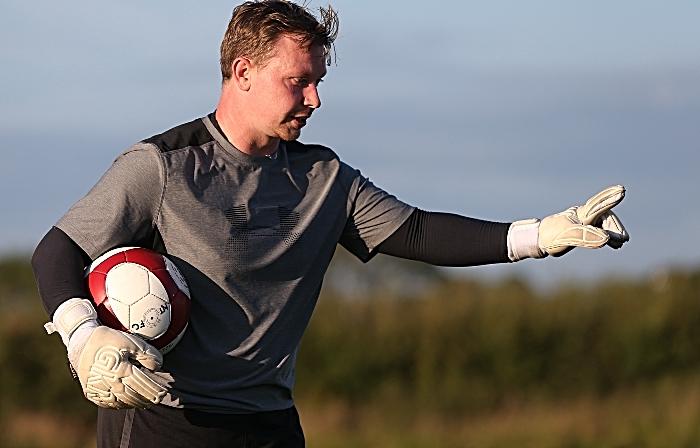 Goalkeeping Coach Kieran Clarke gives instructions (1)