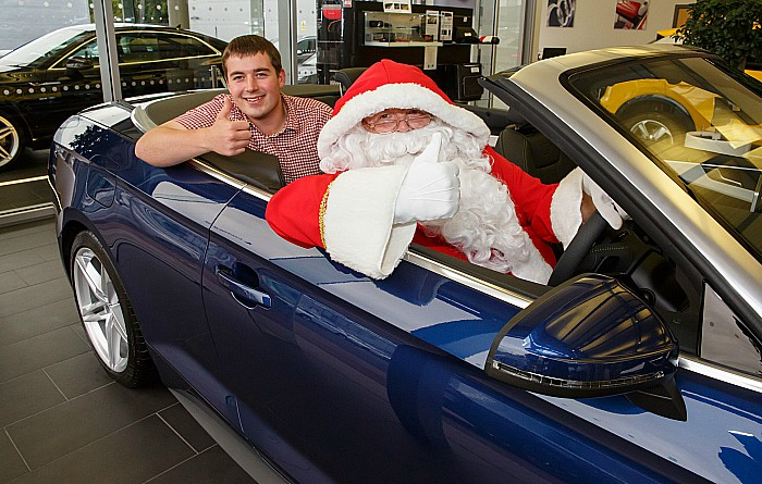 car - Graham Witter and Santa at Swansway Motor Group