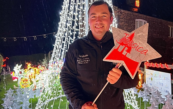Graham Witter with handmade star in memory of sister Jessica from Starlit Garden (1)