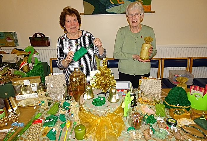 Green and gold stall - Gwyneth Brown and Sylvia Ashley