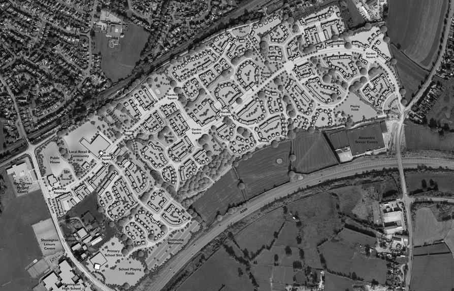 Gresty Oaks 880 homes plan