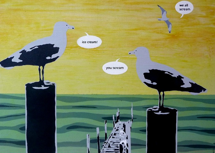 Talking Pictures - Gull Talk by Nicholas Ferenczy