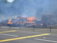 A500 HGV hay fire near Shavington causes long delays