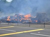 A500 HGV hay fire near Shavington causes long delays