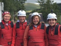 Nantwich solicitors tackle zip wire challenge for Hope Hospice