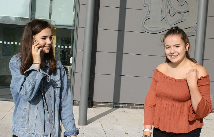 Hannah Billington and Emma Wells were quick to tell others