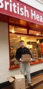 Harrison Lunt at Nantwich BHF shop
