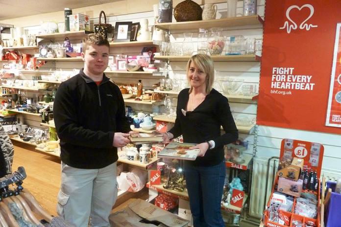 Harrison Lunt in Nantwich British Heart Foundation shop