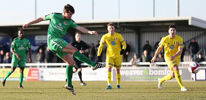 Harry Clayton on target against Grantham
