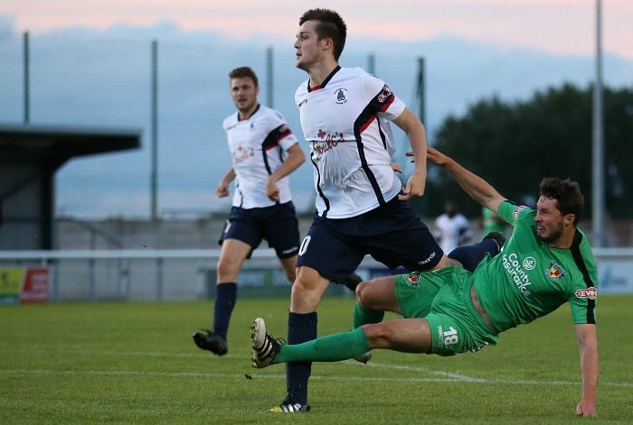 Harry Clayton shoots at goal