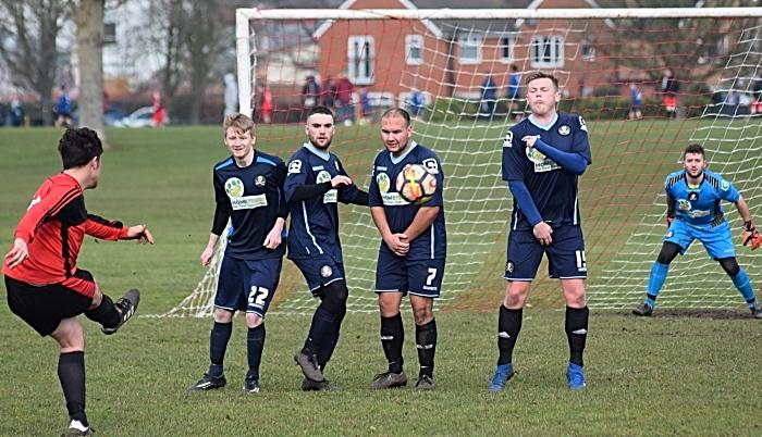 Haslington FC freekick at goal (1)