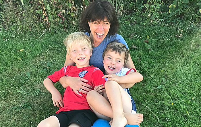 Heidi with her two boys - cancer battle
