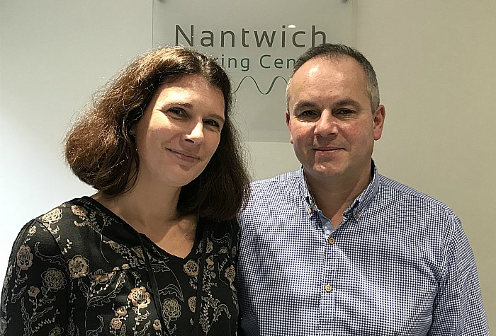 Helen and Alan Jackson, Nantwich Hearing Centre