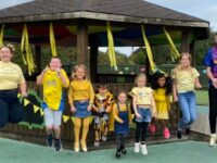 Youngsters celebrate Hello Yellow Day at Nantwich school