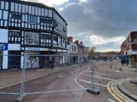 Nantwich town centre road closure set to continue after building collision