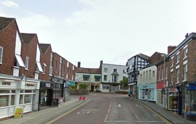 High Street, Nantwich, where leak repairs will cause delays
