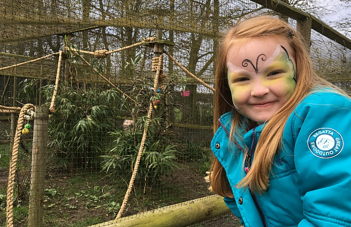 Hollie Tolmie, aged 5, from Congleton, enjoys her visit to Reaseheath's zoo