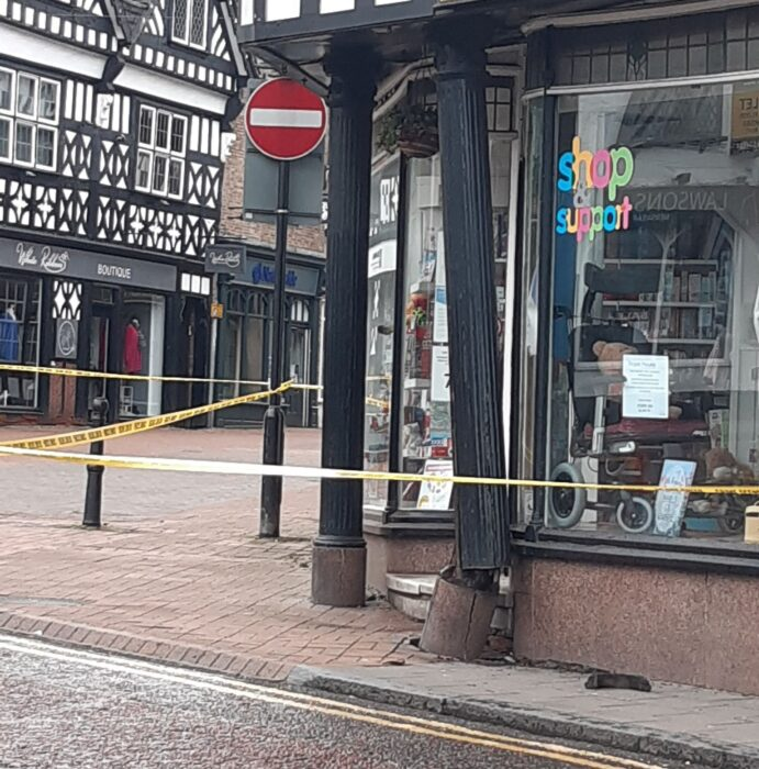 unsafe - Hope House hospice shop damage