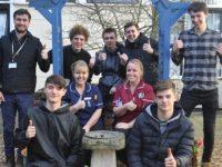 Nantwich apprentices renovate Leighton Hospital garden