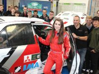 Nantwich motoring students meet GB rally star Jade Paveley