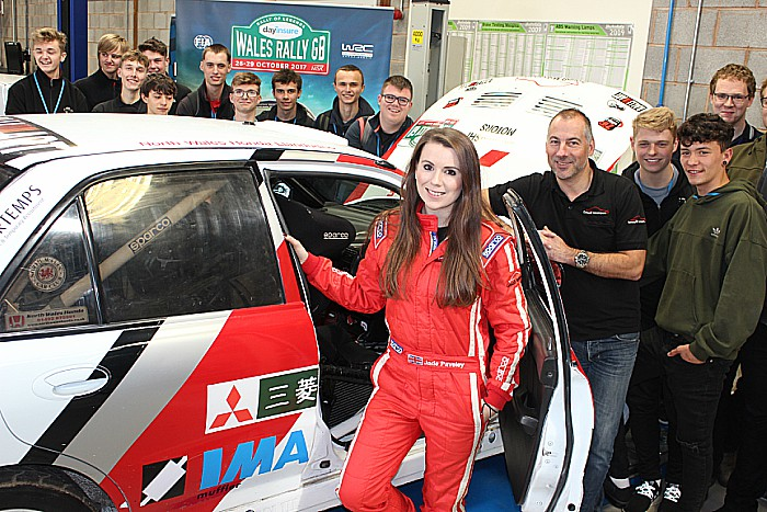 Jade and Dave Paveley rally car students