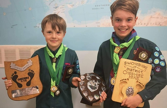 Jake and Stanton prizes - scouts - cheshire hike