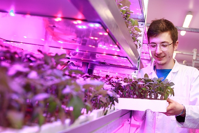 Jake - vertical farming at reaseheath college