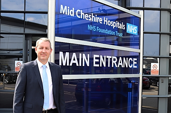 James Sumner - new chief exec at Leighton Hospital MCHFT