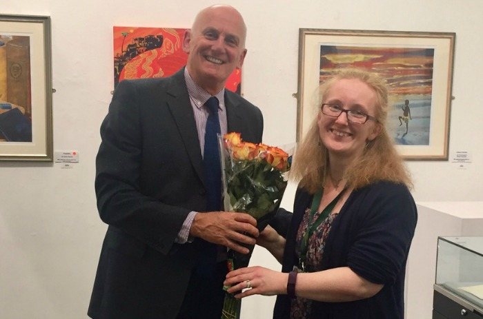 Jeff Stubbs presents to Katherine Bailey