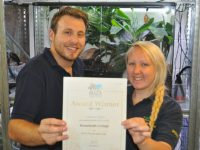Reaseheath Zoo wins gold award for rare spiders project