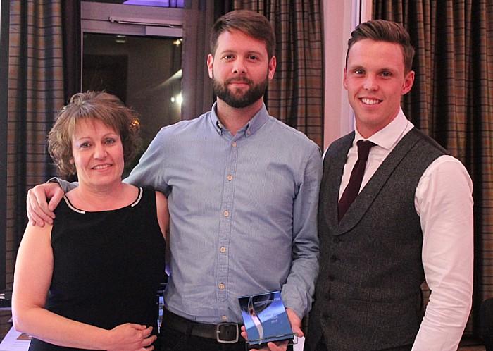 Olympic champion - Joe Clark with MCHFT award winners