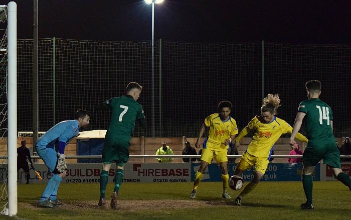 Joe Doyle-Charles clears a danger ball for Matlock